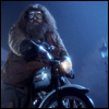 roadrunnertwice: Hagrid on his motorcycle, from Harry Potter and the Sorceror's Stone. (Motorcycle (Hagrid))