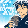 roadrunnertwice: Yoshimori from Kekkaishi, with his beverage of choice. (Coffee milk (Kekkaishi))