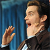 dchan: Matt Bomer at PaleyFest 2011 gesticulating excitedly ([matt bomer] OMG!)