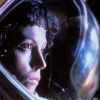 were_duck: Ellen Ripley from Alien looking pensively to the right in her space helmet (Katara and aang are excited)