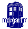 morganfm: my username, morgan f m, superimposed over a graphic of the Tardis (Default)