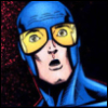 speedingtortoise: Blue Beetle :0 face (Ted Kord :O)