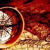 aleyn_howlett: An antique compass set atop an antique map. (travel)