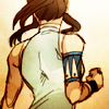 silverhare: Fanart of Korra showing her strong back muscles (avatar - korra (strong back))