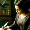 shallowness: Margaret Hale of North and South adaptation sitting at desk writing (Margaret North and South writing)