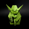 recessional: an origami figure of Yoda (personal; words of WISDOM)