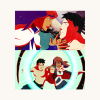 radioactivepiss: M'gann and Superboy from Young Justice fighting (Default)