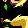 radioactivepiss: Artemis from Young Justice drawing her bow. ([Artemis] Bow)