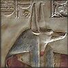 vaalea: Wall relief of Wepwawet. (Kemet ~ Wepwawet)
