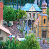 athousandsmiles: a shot of the mini village in Disney World (miniature village)