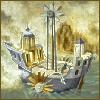 mererid: Detail of Remedios Varo painting, depicting a fantastical ship (Varo - ship)
