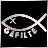 wookiefarts: Icon is a Jesus fish with the eye replaced with an x. Text: Gefilte (Gefilte)