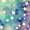 silverflight8: watercolour wash with white paper stars (stars in the sky)