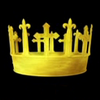 notkingyet: Hollow Crown logo, yellow crown on a black field (Default)