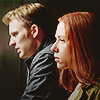such_heights: steve rogers and natasha romanoff in profile (mcu: steve & natasha [ws])
