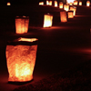 gen_is_gone: luminarias/farolitos illuminating a path (a light to guide you home)