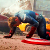 assembles: injured, fight, down, shield, costume (stay right there steve)