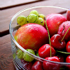and the coast comes like a raft of warm air: food - fruit bowl