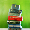 theleaveswant: stack of pretty suitcases (travel/baggage)