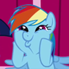 karenhealey: Rainbow Dash overcome with excitement (My Little Pony) (Default)
