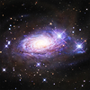 megwrites: A picture of a colorful spiral galaxy in space. (galaxy)