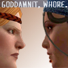 aithne: Isabela and Aveline face off (DA2_goddamnit_whore)