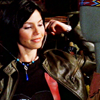 anotherslashfan: cordelia, smiling in a leather jacket, angel the series (cordelia leather jacket)