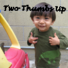 "jumpuphigh: Thefourthvine's Earthling with text ""Two Thumbs Up"" (Earthling)"