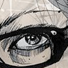 ninetydegrees: Painting: a girl's eye (watching)