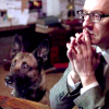 kindkit: Finch looks thoughtfully at the computer and so does Bear (POI: Finch and Bear thinking)