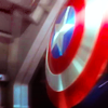 spatz: angled shot of Captain America's shield (Cap shield)