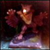 metawidget: Owlbear miniature with arm-wings spread, looking threatening (owlbear)