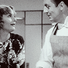 "laughingrat: Carole Lombard and William Powell exchange a glance in ""My Man Godfrey"" (Godfrey)"