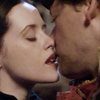 trialia: Adora Belle Dearheart (Claire Foy), Moist von Lipwig (Richard Coyle). Adora's lips graze Moist's very lightly. (discworld] adora/moist - teasing)