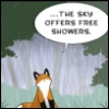 escere: (free showers)