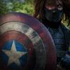 kaydeefalls: winter soldier holding cap's shield (winter soldier)