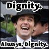 iamshadow: Matt Bomer pulling a face captioned Dignity. Always dignity. (Dignity)