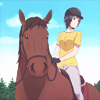 laceblade: Mikage from Silver Spoon anime, on a horse. (Silver Spoon: Mikage)