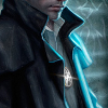 readyaimfuego: painted picture of Harry from the neck down, highlighting his silver pentacle (pentacle)