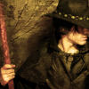 "readyaimfuego: cover of ""Side Jobs"", Harry wearing his hat, holding his staff, and looking off to the side (side jobs)"
