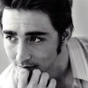 readyaimfuego: Lee Pace as Harry, staring quietly off into the distance, hand tucked against his mouth (contemplative in black and white)