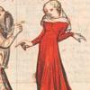 sgac: illuminated manuscript; shocked maiden in red (shocked)