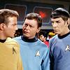 tara: (TOS: Kirk Spock & Bones confer)