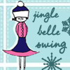 "sashajwolf: cartoon woman with text ""jingle belle swing"" (jingle belle)"