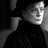 sashajwolf: black-and-white photo of McGonagall (mcgonagall b&w)