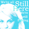 "sashajwolf: Luna: ""We're all still here. We're still fighting"" (luna fighting)"