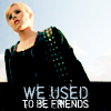 """strina: veronica in black caption """"we used to be friends"""" (veronica - used to be)"""