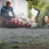 strina: cap & hulk leaning over unconscious iron man, textless (avengers - textless after fall)