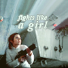 "ouyangdan: Leia holding her blaster. ""Fights like a girl"" (fights like a girl)"