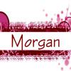 "originalpuck: White icon with pink artistic designs, saying ""Morgan"" in pink. (Pink Morgan)"